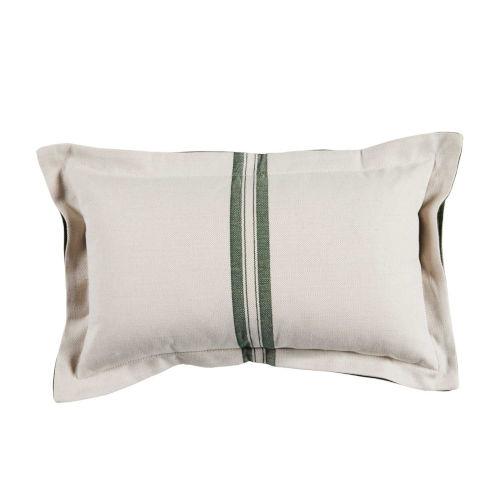 Vintage Stripe Mallard 14 x 24 Inch Pillow with Double Flange