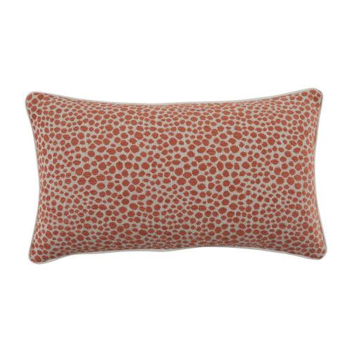 Cheetah Terra Cotta Velvet 14 x 24 Inch Pillow with Linen Welt