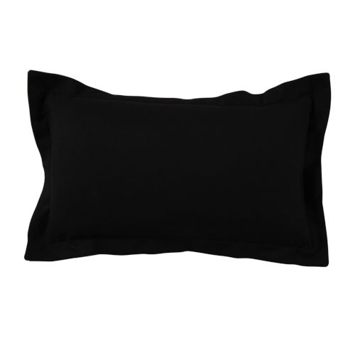 Midnight 14 x 24 Inch Pillow with Linen Double Flange