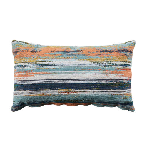 Cray Cray Mist and Chambray Velvet 14 x 24 Inch Pillow with Knife Edge