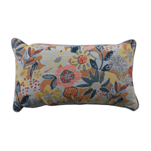 Garden Mustard and Chambray 14 x 24 Inch Pillow with Lure Welt