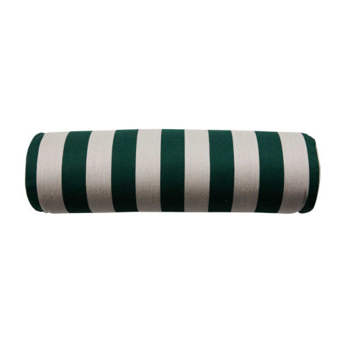 Halo Mallard and Almond 7 x 24 Inch Vartical Stripe Pillow with Knife Edge