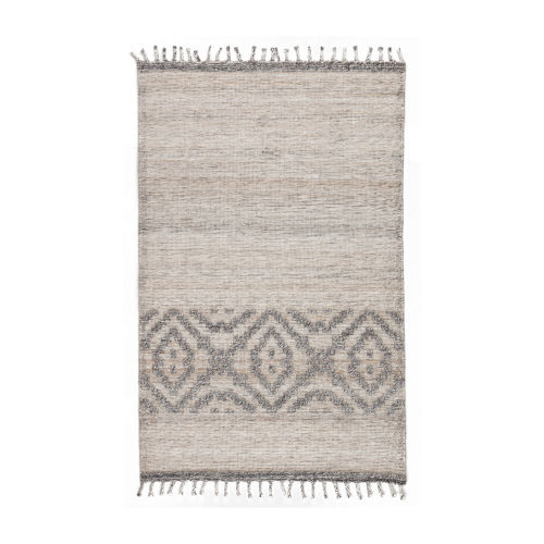 Tribal Stripe Stone Rectangular 5 Ft. x 8 Ft.  Rug