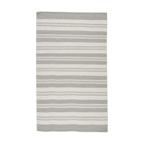 Vintage Stripe Pewter Rectangular 7 Ft. 10 In. x 9 Ft. 10 In. Rug