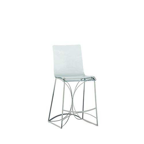 Gabby Home Angela Antique Silver and Clear Acrylic Counter Stool