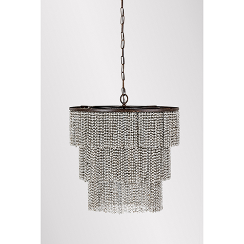 Etienne Dusty Slate and Venetian Rust Four-Light Chandelier