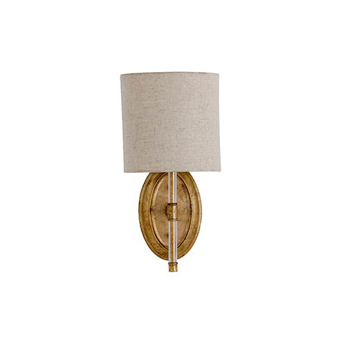 Gabby Home Belfast Antique Gold One-Light Wall Sconce