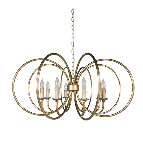 Alta Antique Gold Eight-Light Chandelier