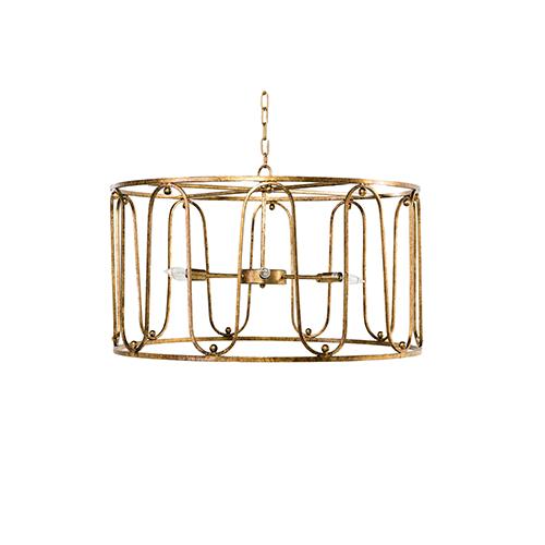 Harvey Antique Gold Six-Light Pendant