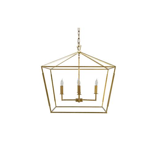 Adler Vintage Gold and Antique Bronze Four-Light Pendant