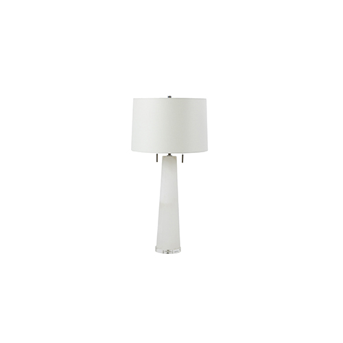 Gabby Home Margaret Gold and Sea Salt Linen Two-Light Table Lamp