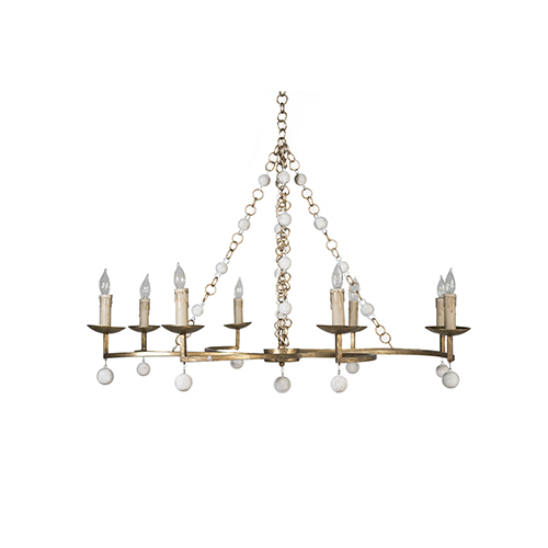 Gabby Home Carrie Antique Gold and Antique White Chandelier - Antique White Chandeliers Bellacor