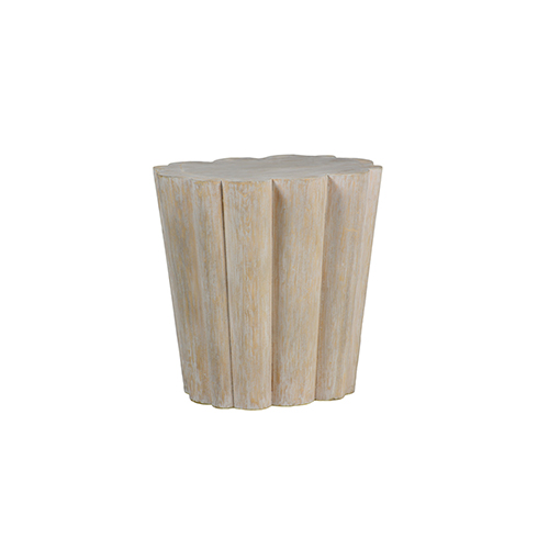 Bree Brushed Whitewash Side Table