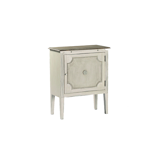 Gabby Home Landry Antique White and Natural Lime Accent Table