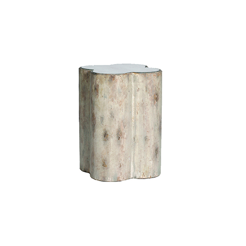 Gabby Home Candra Distressed Dove And Mirror Accent Table