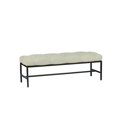 Joseph Rusty Black and Cream Bench