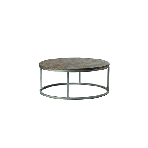 Colby Silver Antiqued Black Buff And Burnished Brown Coffee Table