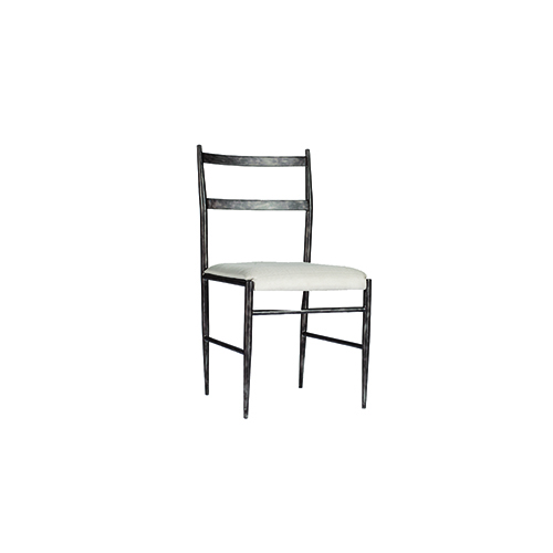 Gabby Home Ward Antique Pewter and Soft Linen Dining Chair, Set of 2