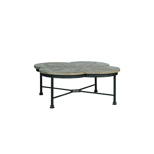 Gabby Home Edwin Untouched Pine and Rusty Black Coffee Table