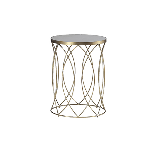 Gabby Home Nicole Antique Gold, White Marble Side Table