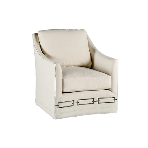 Gabby Home Baldwin Cream Curved Back Swivel Chair