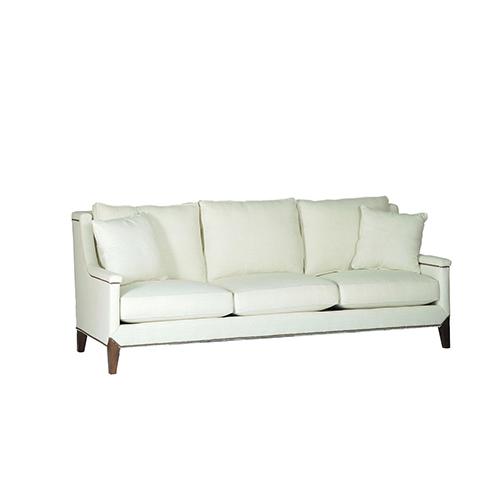 Gabby Home Liam Cream Capped Arm Sofa