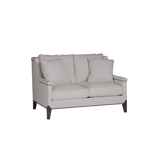Gabby Home Liam Gray Capped Arm Loveseat
