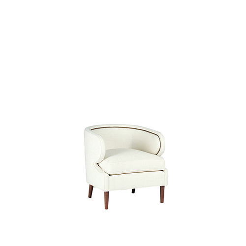 Gabby Home Monroe Cream Curved Back Chair