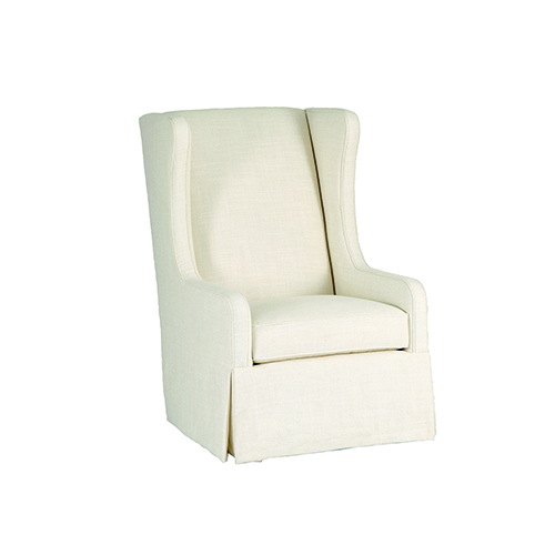 Gabby Home Reagan Cream Wingback Swivel Chair