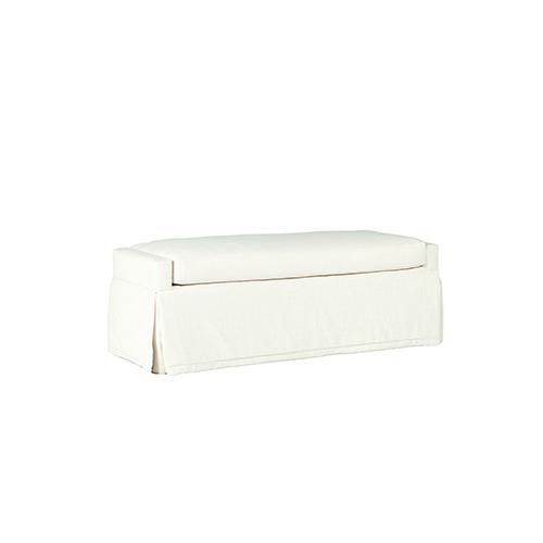 Sophia Cream Skirted Bench