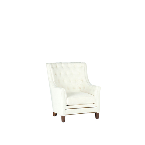 Gabby Home Welch Cream Tufted Wingback Lounge Chair