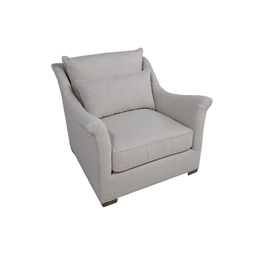 Westley Gray Chair with Shallow Seat