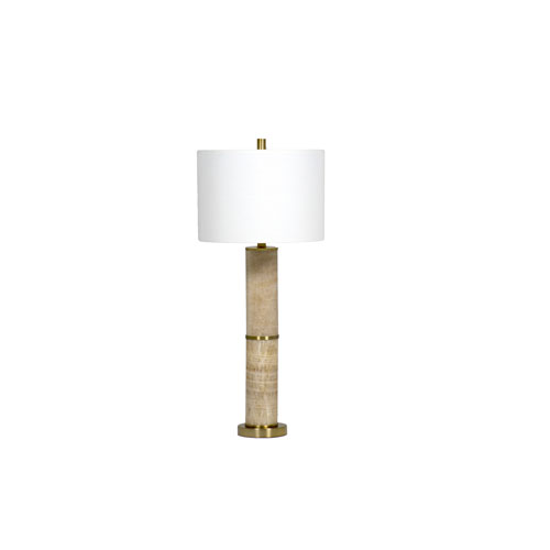 Gabby Home Soloman Gold Marble Antique Brass 6-Inch One-Light Table Lamp