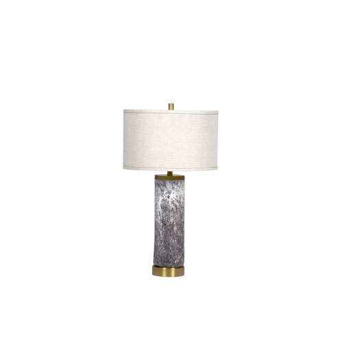 Gabby Home Laura Textured Purple and Antique Brass 6-Inch One-Light Table Lamp