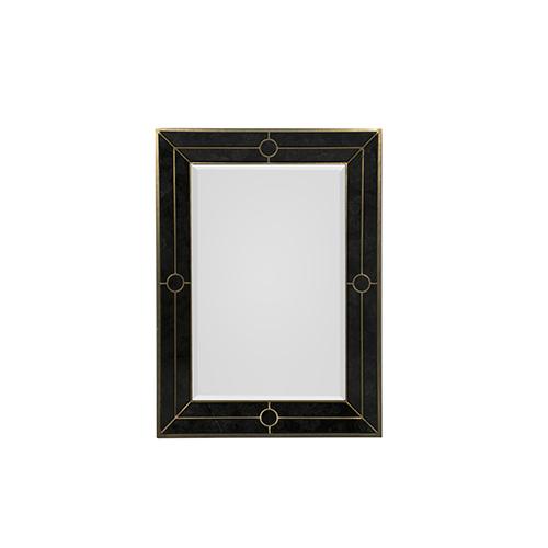 Gabby Home Fernando Champagne and Black Antique 32-Inch Mirror