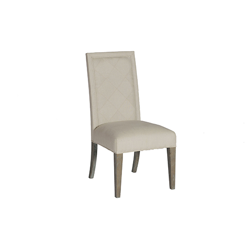 Verona Burnished Oak and Linen Dove Sunbrella Fabric Dining Chair, Set of 2