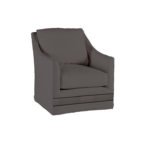 Gabby Home Baldwin Savvy Caviar Swivel Chair