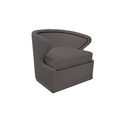 Monroe Savvy Caviar Swivel Chair