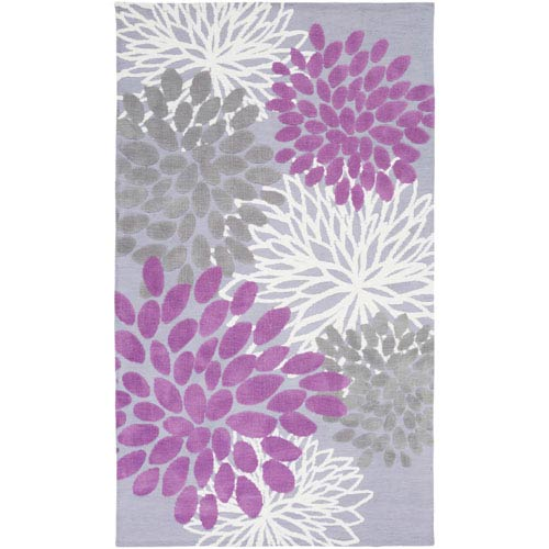 Abigail Orchid and Gray Rectangular: 2 Ft x 3 Ft Rug