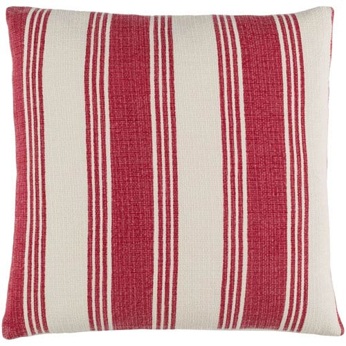 Anchor Bay Red and Neutral 22-Inch Pillow Cover