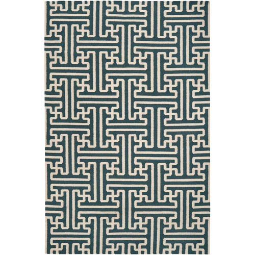 Surya Archive Turquoise Rectangular: 5 ft. x 8 ft. Rug
