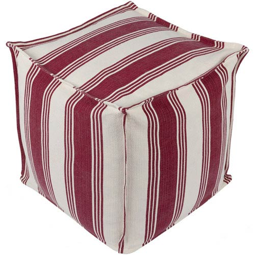 Anchor Bay Cream and Bright Red Pouf