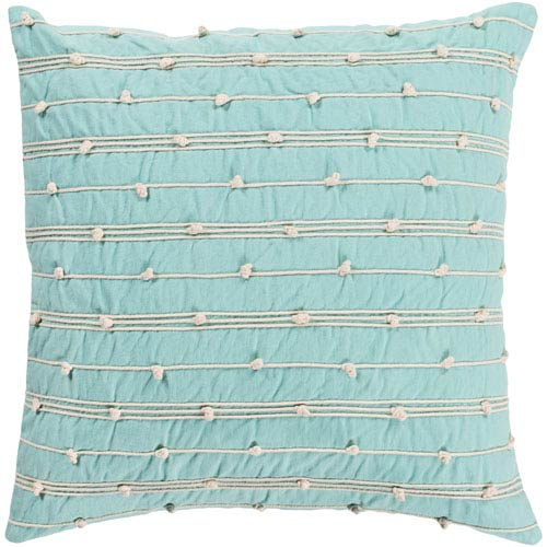Surya Accretion Mint and Cream 22 x 22 In. Throw Pillow
