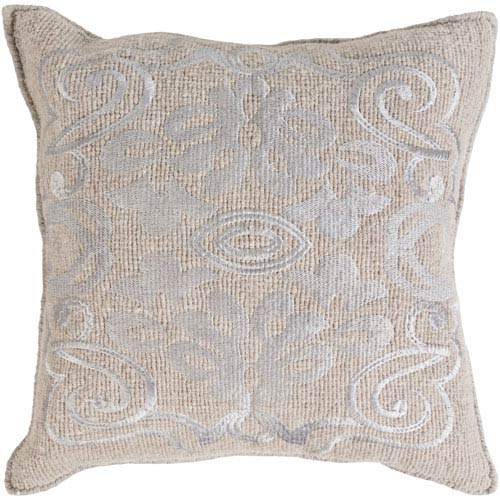 Adeline Gray 20-Inch Pillow Cover
