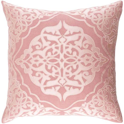 Adelia Pink 18-Inch Pillow with Down Fill