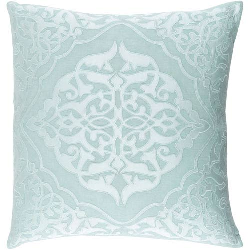 Adelia Green and Blue 20-Inch Pillow Cover