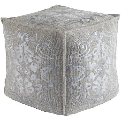 Adeline Medium Gray Pouf
