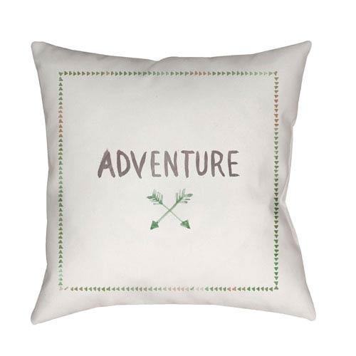 Adventure II Green and Purple 18 x 18-Inch Throw Pillow
