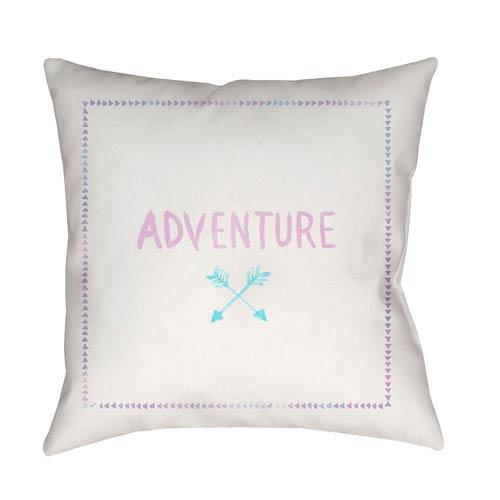 Surya Adventure II Purple and Blue 18 x 18-Inch Throw Pillow