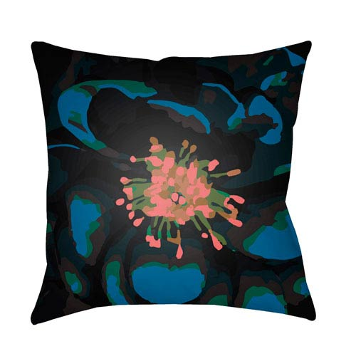 Surya Abstract Floral Multicolor 22 x 22-Inch Pillow
